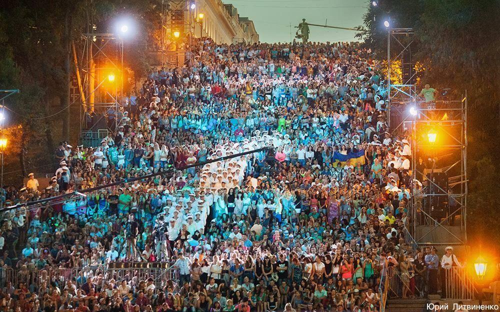 Зрительный зал-Потемкинская лестница<br> <cite>Одесса, день города, 2015г</cite>